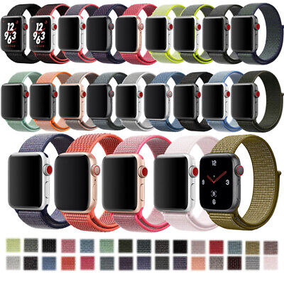 For Apple Watch 38mm 44 mm Flash Sport Loop Nylon Sport Woven Watch Band Strap