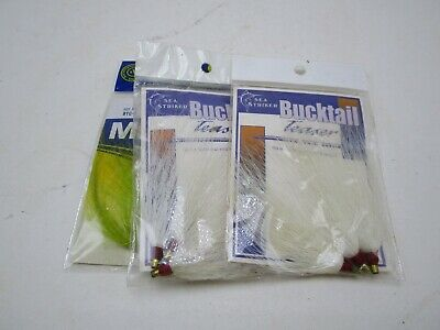 "Yellow BTY LOT OF 100 SEA STRIKER Bucktail Teaser Fishing Lures 3/"" BULK"