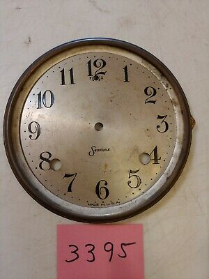 Antique Sessions  Tambour Mantle Clock Dial And Bezel No Glass
