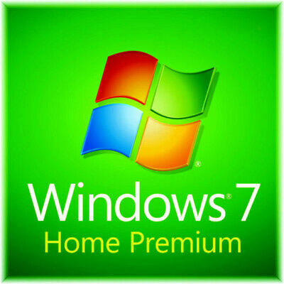 Windows 7 Home Premium 64 bit Full Version SP1 DVD, Product Key on COA Pro Disc