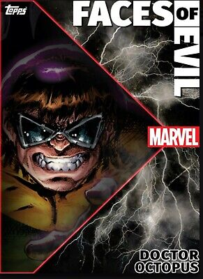 Topps Marvel Collect Card Trader Faces of Evil Motion Wave 2 Set of 7 w/ Award