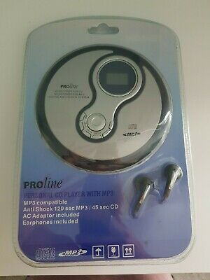 Proline Personal CD Player with MP3 Earphones Included Brand New and Sealed
