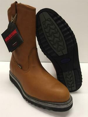 5d29bc071a9 NEW MENS WOLVERINE EXCESS Leather Durashocks Wellington Work Boots ...