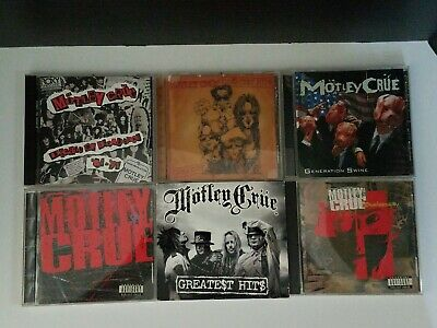 Motley Crue Lot of 6 CD's Greatest Hits Self Title Decade of Decadence and more