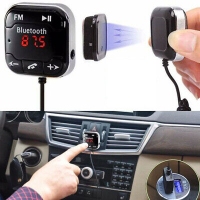 Kit Hands-free Bluetooth Wireless Magnetic AUX Adapter with Mic FM Transmitter