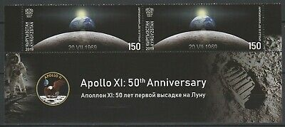 Kyrgyzstan 2019 Space, Apollo 11 50th Anniversary Moon Landing MNH Se-tenant