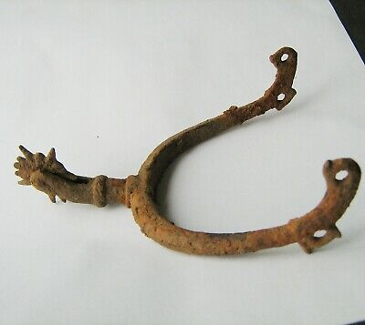 Ancient Medieval Iron Spur 15-16 Century