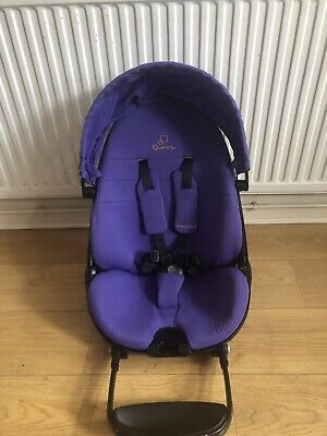 Genuine Quinny Moodd Replacement Seat Unit inc Fabric, Hood, Pads - Purple Pace