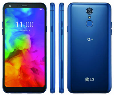 NEW! LG Q7+ 64 GB - Blue (MetroPCS) Smartphone! Unlocked