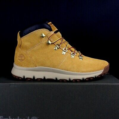7301c6bebad TIMBERLAND A1QEW231 WHEAT SUEDE World Hiker Mid Mens