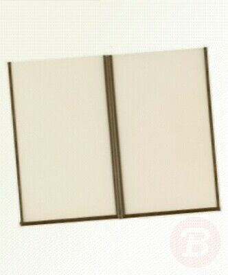 Securit CB842 Crystal Menu Holder, A4, Double Fold 4 Pages (Pack of 3)