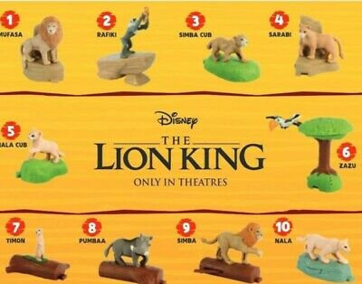 2019 McDONALD'S THE LION KING HAPPY MEAL TOYS COMPLETE 10 PIECE SET! IN HAND!!!!