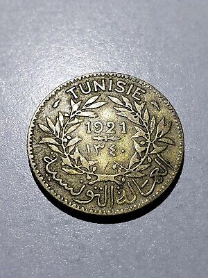 Old Coin: 1921 Tunisia 1 Franc #2