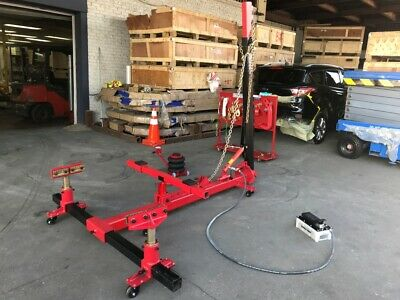 Portable Auto Body Frame Machine Rack On The Floor 10 Ton Puller Free Shipping 2 999 00 Picclick