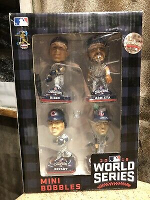 ARRIETA BRYANT MADDON RIZZO Chicago Cubs 2016 World Series Mini Bobblehead Set