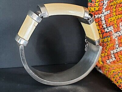 Old South African Tribal Stirling Silver Bracelet …beautiful collection and acce