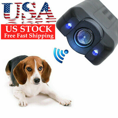 Ultrasonic Anti Dog Barking Pet Trainer LED Light Gentle Chaser* Petgentle Style