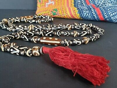 Old Tibetan Mala Prayer Beads / Necklace …beautiful collection and accent piece