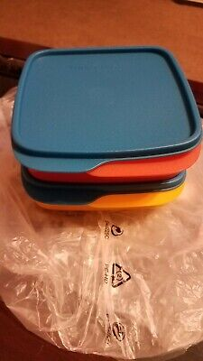 Tupperware Lunch It Divided Lunch Container Lunchit Set of 2 Fun Colors - NEW!