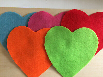 5 x Love Heart Felt Shapes ~Or Buy your choice of colours