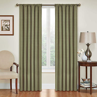 """ECLIPSE Blackout Curtains for Bedroom-Kendall 42"""" x 95"""" 42"""" x 84"""" Insulated Rod"""
