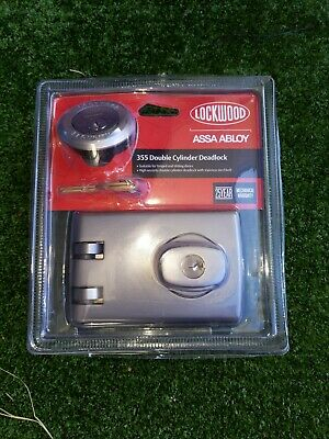 Lockwood 355 Double Cylinder Deadlock New In Retail Packaging - Satin Chrome