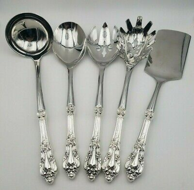 Eloquence by Lunt Sterling Silver 5 Piece Hostess Set Custom Made