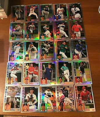 2019 TOPPS CHROME 1984 INSERTS YOU PICK COMPLETE YOUR SET Trout Judge Acuna