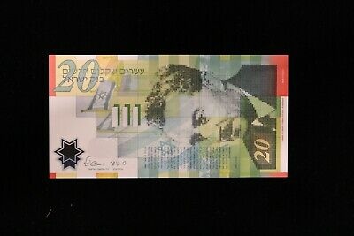 ISRAEL  20 New Sheqalim 2008  Paper UNC Banknote (ISW190615/B54)