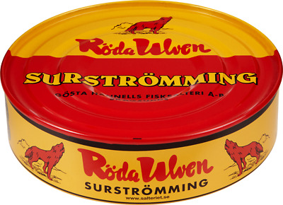 Röda Ulven Surstromming Swedish Surströmming 400g 14oz Fermented Herring