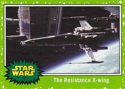 2017 Topps Star Wars le Last Jedi Cartes à Collectionner ,( Vert) The Resistance