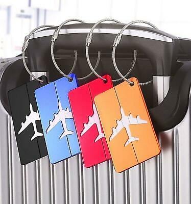 3X Travel Luggage Tag Metal Suitcase Baggage Bag Office Name Address ID Label