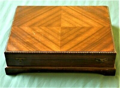 Antique / Old British Jewellery Large Wooden Box Very Nice ...