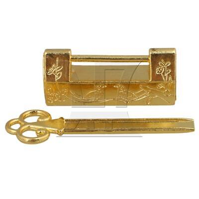 Gold Antique Chinese Old Style Two Bird Lock Padlock