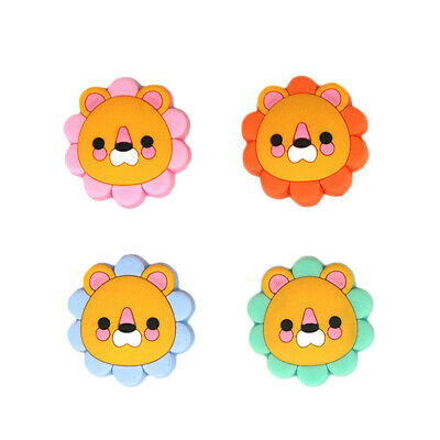 5 PCS DIY Food Grade Silicone Beads Mini Lion Teething Chewing Toys Baby Teether
