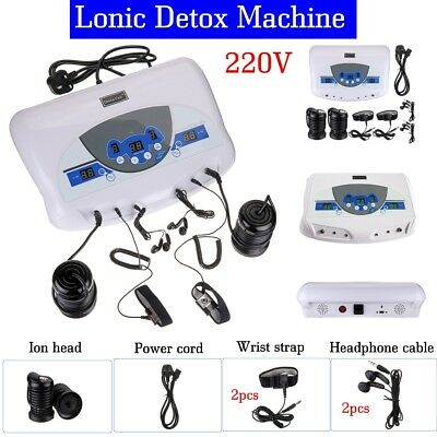 Dual User Detox Ionic Foot Bath Ion Spa Machine Cell Cleanse MP3 Arrays Earphone