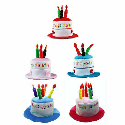 ADULT HAPPY BIRTHDAY Cake Hat With Candles Fancy Dress Party