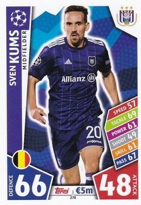 Sven Kums 2017-18 Topps Champions League Match Attax , Trading Card,# 278