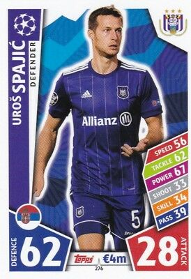 Uros Spajic 2017-18 Topps Champions League Match Attax , Trading Card,# 276