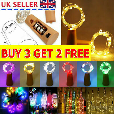 10/20 LED Bottle Fairy String Lights Cork Shaped XMAS Party Wedding AG13 Battery