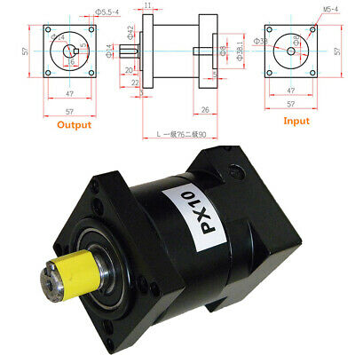 Nema23/34/44 Stepper Motor Planetary Gearbox Speed Reducer 4 6 10 16 24 36 64:1