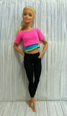 Barbie Made to Move Doll  Pink Top #