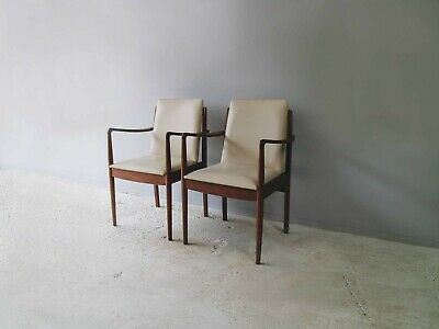 A pair of mid-century Danish dining chairs