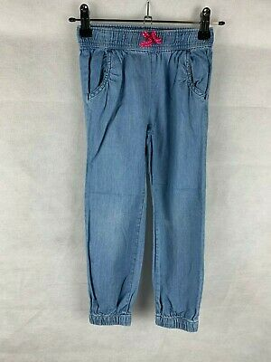Baby GAP Girls Age 4 Years Blue Elastic Waist Cuffed Trousers
