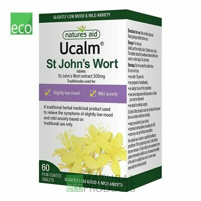 Natures Aid Ucalm St John's Wort 300mg 60 Tablets exp. date 08.2019