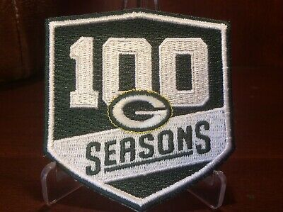 ,ROCKET SHIPPING ON THIS GREEN BAY PACKERS 100 Seasons PATCH, iron On