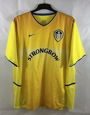 Leeds United Away Football Shirt 2002/04 Adults XL Nike