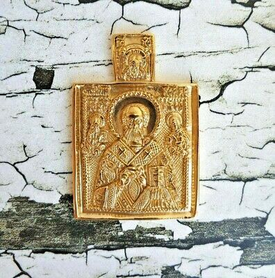 Russian Orthodox Old Believer icon Nicolas the Miracle Worker, St Nicholas metal