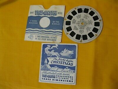 The Night Before Christmas Viewmaster Reel FT-30 with Story Booklet and Envelope