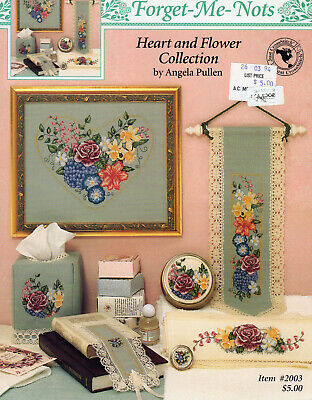 Forget-Me-Nots Heart & Flower Collection CROSS STITCH pattern booklet